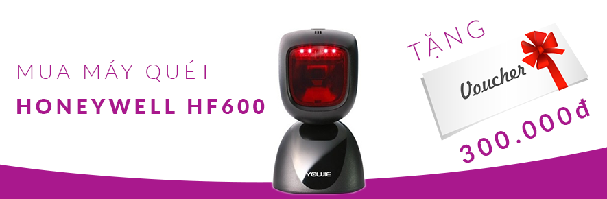 Máy quét Honeywell HF600  tặng Voucher giảm giá 300K