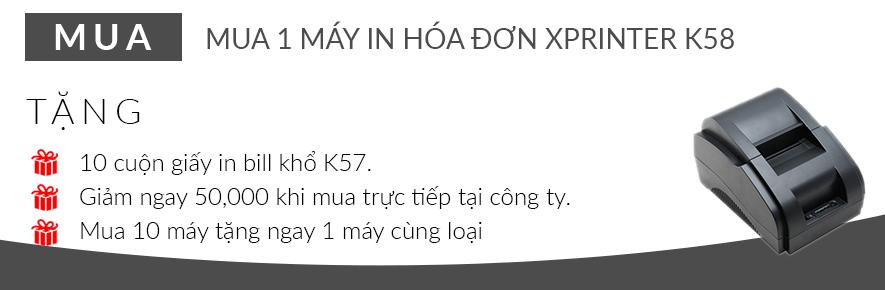 / Mua 1 máy in hóa đơn Xprinter K58