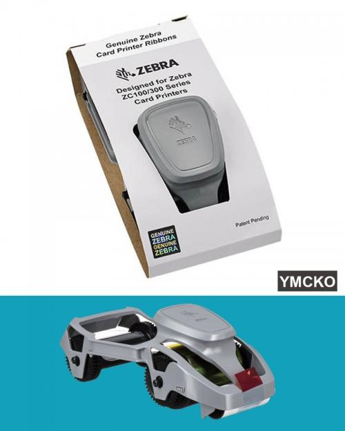 Ruy Băng mực (YMCKO) (CASE) - 800300-350AP máy Zebra ZC100/ZC300 (full color)