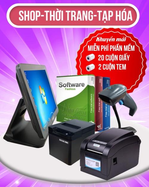 Trọn bộ thiết bị bán hàng: Máy bán hàng-Máy in hóa đơn-Máy in báo bếp-Phần mềm bán hàng-Giấy in hóa đơn