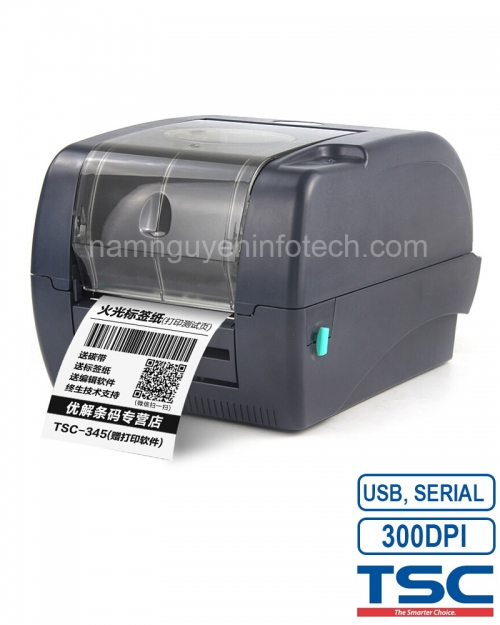Máy in mã vạch TSC TTP-345 (USB,COM)