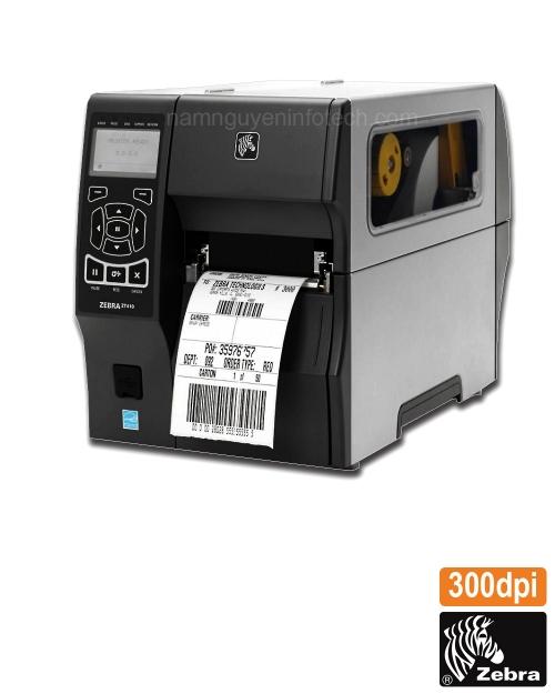 Máy in mã vạch công nghiệp Zebra ZT410 (300dpi)