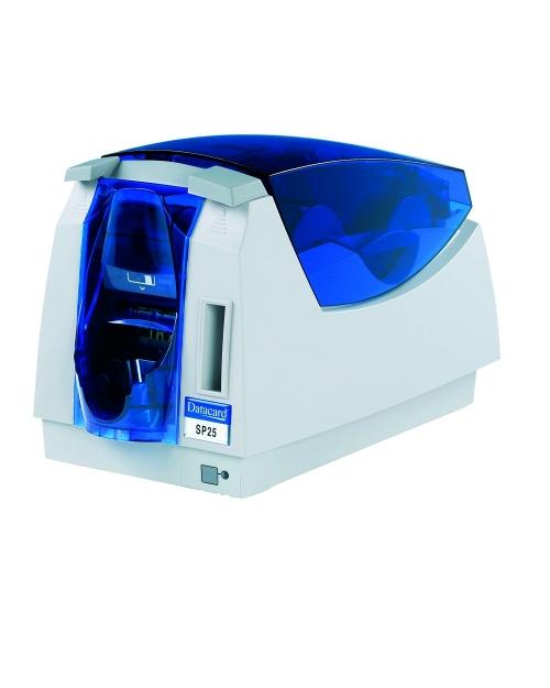 Máy in thẻ Datacard SP25 Plus In màu một mặt, công suất nhỏ, chi phí thấp