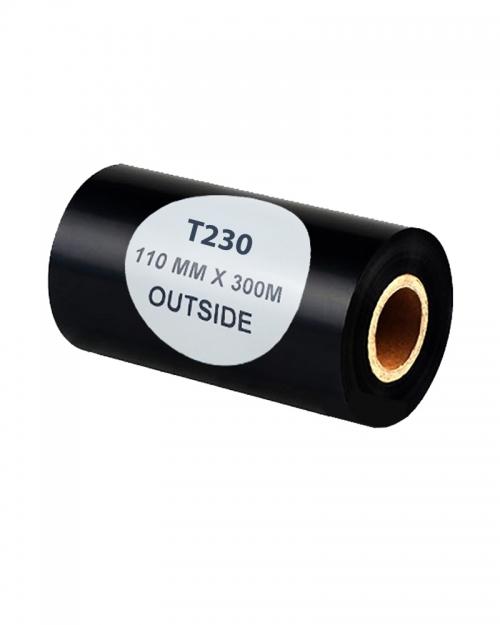 Mực in nhãn mã vạch Wax/Resin T230 110mm x 300m